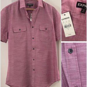 NWT Men's EXPRESS sz Lg button up shirt sleeve